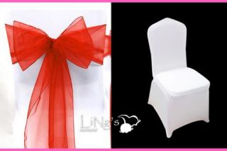 New Buy 100 Spandex Lycra Stretching Chair Cover Get 100 Organza Sashs Bows Free