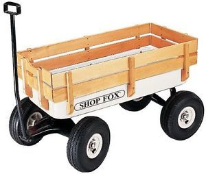 Heavy Duty Wagon with Wood Sides Kid Child Toy Children Kids Wagon New