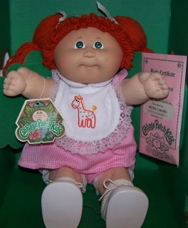 Cabbage Patch Doll Bette Carmel Red Hair 1984 Vintage