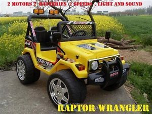 Best Kids Battery Yellow Ride on Toy Car Jeep Wrangler Power Wheel