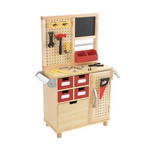 One Step Ahead Kid's Toy Wooden Tool Work Bench
