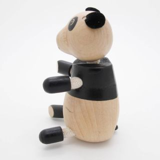 3D Portable Wooden  Animals Wood Figures Baby Kids Toys Panda