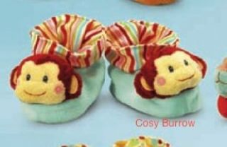 Russ New Baby Boy Cute Booties Shoes Gift Monkey