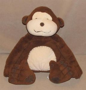 "14"" Pottery Barn Kids Brown Tan Monkey Plush Toy Pbk Critter Sitter Stuffed"