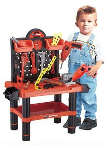 Childrens Kids 54 Piece Tools Drill Play Toy Work Bench