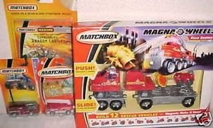 New Matchbox Toy Fire Truck Toys Cars Playset Gift Set