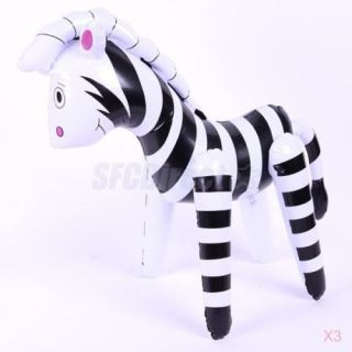 Zoo Forest Animal Story Inflatable Blow Up Zebra Pool Water Toy Party Favour