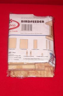 Kids Workshop Wooden Building Kit Bird Feeder NIP