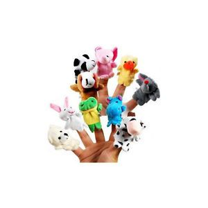 10pcs Animal Cartoon Finger Puppet Kids Finger Toys Plush Toys for Baby Girl Boy