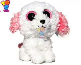 Ty Beanie Boos Diva White Dog Puppy Soft Plush Stuff Stuffed Animal Toy 4 Kids