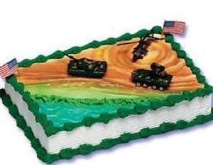 Decorating Party Wedding Military Tanks Camo Cake Topper