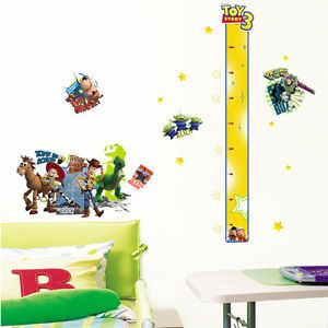 Toy Story Growth Height Chart Nursery Kids Room Decor DIY Vinyl Wall Sticker