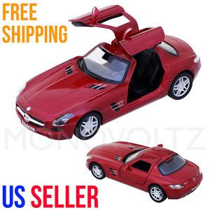 Mercedes Benz SLS AMG 1 36 Pull Back Car Toy for Kids Gift Die Cast Cars Red