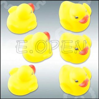 Baby Kids Shower Toys Cute Rubber Float Race Squeeze Squeaky Ducks Ducky Yellow