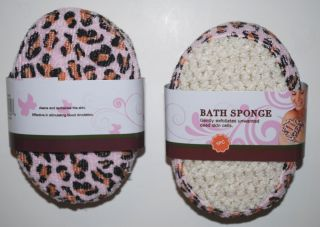 Leopard Print Bath Sponge Favors Bachelorette Party Games Gifts Beauty 4 PC Lot