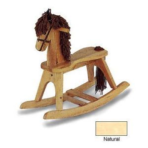 New Angel Line Classic Wooden Rocking Horse Kids Childrens Nursery Toy Natural