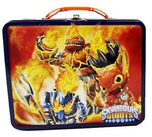 Skylander Giants Metal Tin Lunch Box Red New Carrier Toys Tote Kids Gift Bag