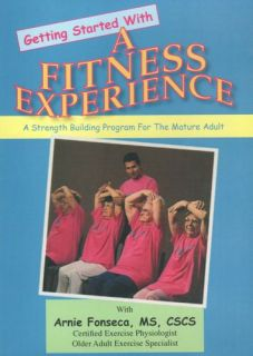 A Fitness Experience Senior Citizen Exercise DVD New Physical Therapy Workout