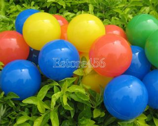 Baby 50pcs Soft Plastic Pit Ball Bright Color Play Tunnel Toy Kid Pets E456