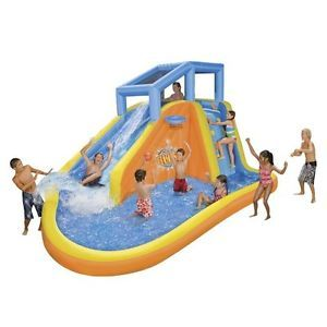 Bounce House Water Slide Inflatable Water Park Waterslide Backyard Waterpark Toy