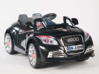 Ride on Car 12V Audi Style Kids Power Wheels w  Remote Control Black RC