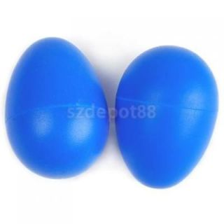 2pcs Plastic Percussion Musical Egg Maracas Shakers Blue Baby Kids Education Toy