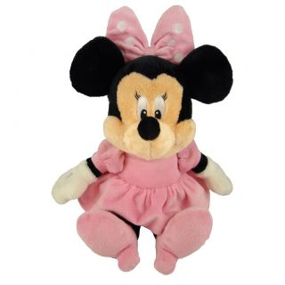 Disney Baby Minnie Mouse Plush Soft Toy with Chime Rattle Crinkly Ears 31cm