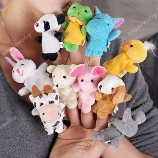 10pcs Plush Animal Finger Puppets Baby Dolls Boy Girl Party Gift Kids Child Toys