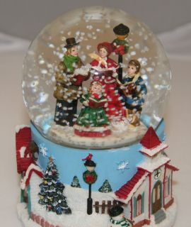Kurt Adler Christmas Carolers Snow Motion Musical 100mm Waterglobe H0661CA