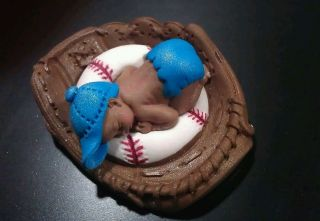 Fondant Edible Baby Baseball Glove Sports Cake Toppers Decorations Baby Shower