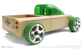 Automoblox T9 Pick Up Model Car Toys Wooden Kids Favor