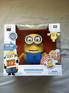 New Despicable Me 2 ME2 Minion Dave Talking Laughing Action Figure Toy Doll 8""
