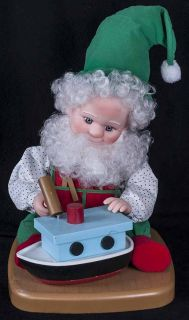 Vtg 92 Santa's Best Animated Elf Gnome Toy Maker Electric Motionette