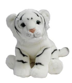 "White Tiger Large Soft Plush Toy Stuffed Animal 14"" 36cm Long Korimco New"