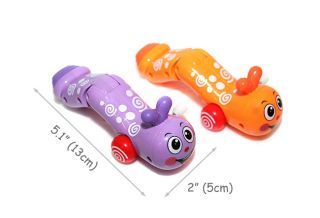 Baby Kids Colorful Inchworm Carpenterworm Twist Forward Movement Clockwork Toy