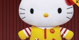 Limited Hello Kitty x McDonald's Birthday Christmas Toy Plush Doll Figures Set 4