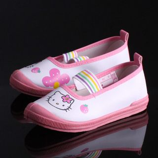 Authentic Hello Kitty Girls Kids Pink White Casual Athletic Shoes Sandal