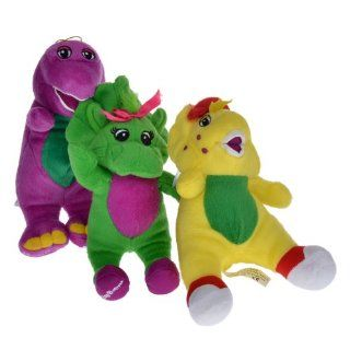 "Barneys and Its Friends Singing Plush Stuffed Toy Doll 7"" 3pcs Set"