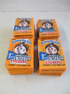 Set of 48 SEALED Packs of Garbage Pail Kids 9th Series Sticker Cards 1987 Topps