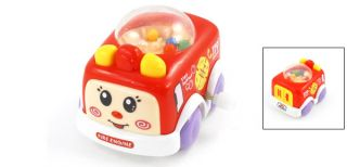 Children Colorful Plastic Fire Engine Auto Car Toy