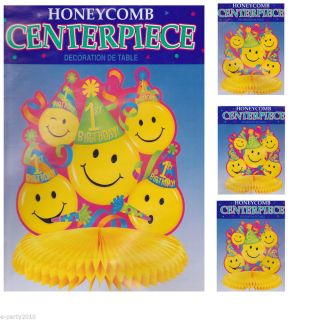 Smiley Face Centerpieces Age Specific Boy or Girl Birthday Party Supplies