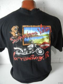Harley Davidson Men's Black Susquehanna Valley HD Harrisburg PA T Shirt Sz XXL
