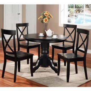 Home Styles Round Pedestal Dining Table Chairs Sold Separately or as A Set