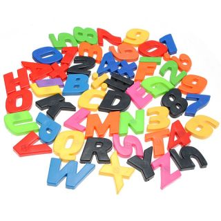52P Magnetic Magnet Letter Alphabet Number Fridge Kids Child Educational Toy Set