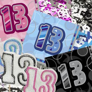 Blue Pink Black 13th Birthday Party Items Decorations All in One Listing