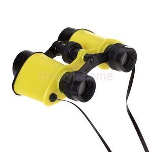 Funny Kids Educational Playground Toy Binoculars Observing Telescope Neck Strap