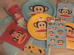 Paul Frank Julius Monkey Birthday Party Plates Napkins Banner Cups etc U Choose