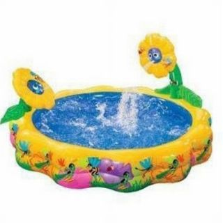 Flower Power Kids Inflatable Swimming Pool Sprinkling