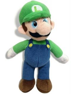 "Super Mario Bros Plush Toy Soft Toy Luigi 9"" 23cm Brand New"