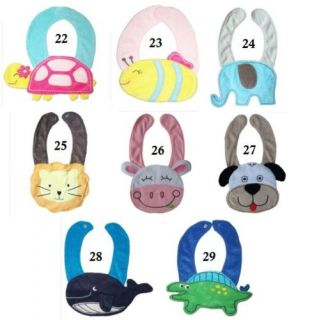 Baby Boy Girl Costume Animal Fun Teething Feeding Bibs 0 36 Mos